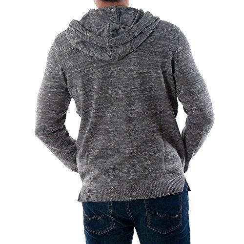 Jack & Jones Herren Hoodie Strickpullover Pullover Sweater Grey Melange