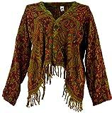 Guru-Shop Bolero Jacke, Legeres Boho Jäckchen, Damen, Pink, Synthetisch, Size:40, Boho Jacken, Westen Alternative Bekleidung