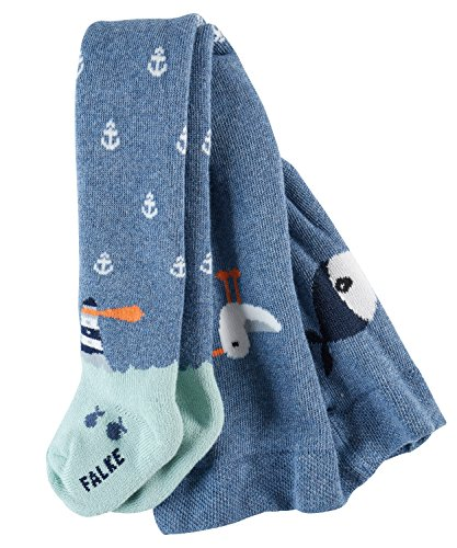 falke strumpfhose baby FALKE Babys Strumpfhosen / Leggings Lighthouse - 1 Paar, Gr. 80-92, blau, Baumwolle Vollplüsch