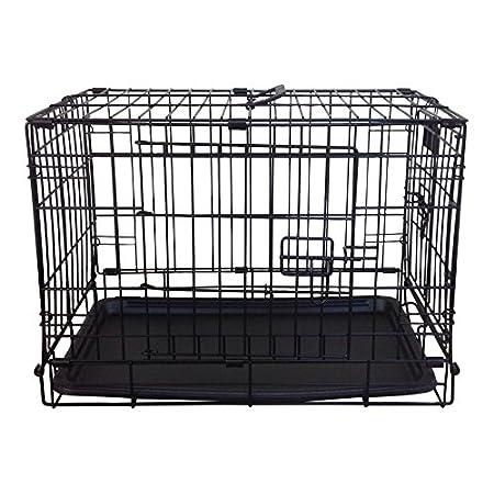 Simply Maison | Hundekäfig | Transportbox | Drahtkäfig mit 1 Oder 2 Türen | Tragegriffen | mit Oder Ohne Rollen | (Größe…