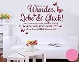 Klebefieber Wandtattoo Wunder, Liebe & Glück B x H: 120cm x 86cm Farbe: Hellrosa