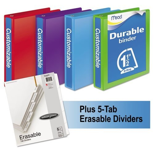 Mead 1 1/2 3-Ring View Binders Bundle Pack by Mead (3-ring Binder-bundles)
