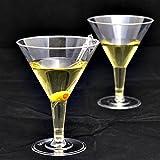 20x transparent Kunststoff Einweg Party Martini Cocktail oder Dessert Glas.
