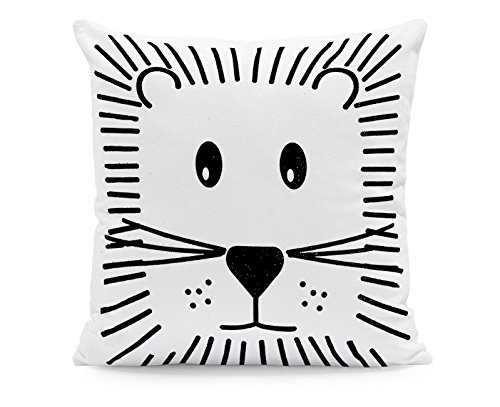 Generic 45x45cm Kissenbezug Kissenhülle Tiger Löwe Monochrom Cool Deko Kinderzimmer Baby