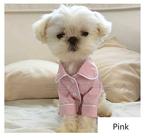 (Soft & Cozy Hunde Schlafanzüge, Hund Bekleidung, Haustier-Outfit, Cute Fashion Doggy Kostüm, Victoria Style, Puppy Cat Shirt mit Button Anzug Kleine Hunde Pudel teddy für Halloween Christmas Party Holiday Festive)