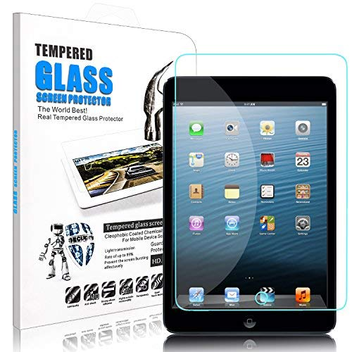 donwell iPad Mini Displayschutzfolie Bubble Kostenlose Anti-Kratzer gehärtetes Glas Schutz Abdeckung für Apple iPad Mini 1/2/320,1cm, 1 Stück