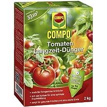 COMPO Tomaten Langzeit-Dünger, hochwertiger Spezial-Langzeitdünger, für alle Arten von Tomaten und anderes Frucht und Knollen bildendes Freungemüse, sowie Kräuter, 2 kg