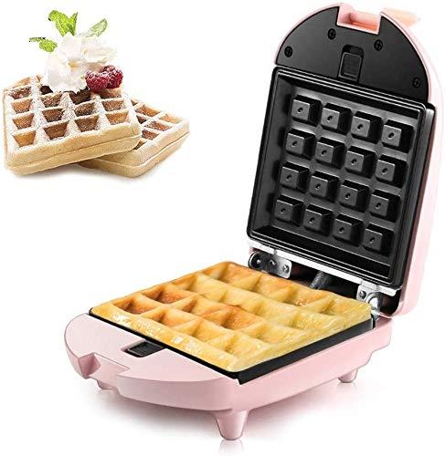 LIANYANG Quadrat Muffin Maker Iron Machine,Maschine für Muffins Elektrische Antihaftbeschichtung Form Edelstahl zum Frühstück Mittagessen(Farbe:Pink,Größe:4x7x5in)