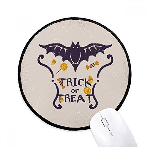 DIYthinker Schmetterlings-Form-Cartoon-Muster Halloween Runde Griffige Mousepads Schwarz Titched Kanten Spiel Büro-Geschenk (Schwarze Formen Halloween)