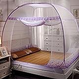 Runde tüll stoff burg kuppelzelt moskitonetz, Folding Halterung Double Baby Wohn moos vorhang-lila Queen2