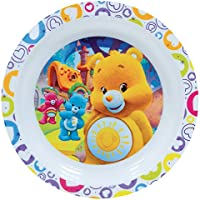 FUN HOUSE 005357 Bisounours Assiette Micro-ondable pour Enfant Polypropylène Blanc 22 x 22 x 1 cm