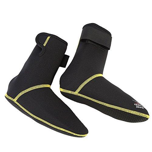 VGEBY Wassersport Schuhe Neopren Tauchen Surfen Schnorcheln Anti-Rutsch-Stiefel für Frauen und Männer (Farbe : Schwarz, Abmessung : M)