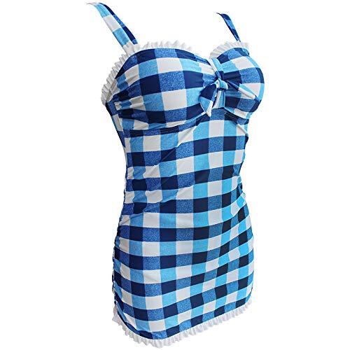 Yvonnelee Badeanzug fur Damen aus Stoff Material Endurance zweiteiliges Badeanzug Vorgeformte XXXL - 3