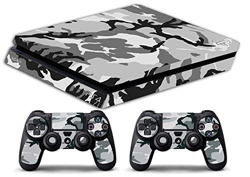 Skin Ps4 SLIM - CAMOUFLAGE SNOW - limited edition DECAL COVER ADESIVA Playstation 4 Slim SONY BUNDLE