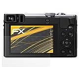 atFoliX Schutzfolie für Panasonic Lumix DMC-TZ71 Displayschutzfolie - 3 x FX-Antireflex blendfreie Folie