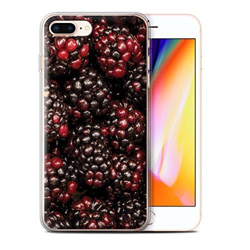 Stuff4 Gel TPU Hülle / Case für Apple iPhone 8 Plus / Himbeere Muster / Saftige Frucht Kollektion Johannisbeer