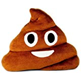 Smiling Poop Emoji Pillow