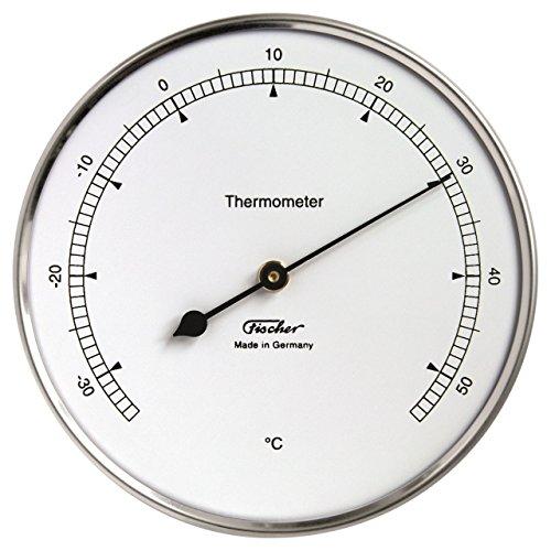 Fischer Thermometer, Edelstahl, 30x 10,3x 10cm
