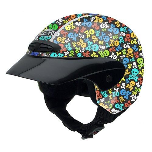 NZI 050255G410 Single Jr Graphics Pirates Motorcycle Helmet, Pirates Design, Size 50-51 (S)
