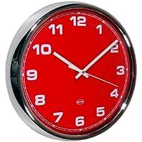 Cabanaz Reloj de pared, color rojo