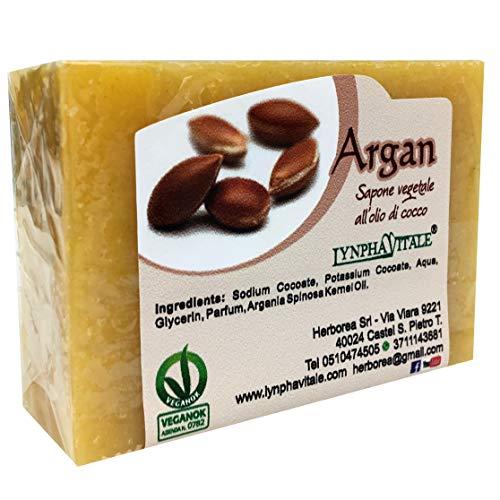 Sapone artigianale all'Olio di Argan - 100% naturale e vegetale - Sapone idratante per viso e corpo