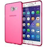 Samsung Galaxy A5 2016 Coque Protection de NICA, Housse Silicone Portable Mince Souple TPU Tele-phone Case Cover Premium Incassable Ultra-Fine Resistante Gel Slim Bumper Etui - Mat Pink Rose