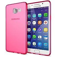 Samsung Galaxy A5 2016 Coque Protection de NALIA, Housse Silicone Portable Mince Souple TPU Tele-phone Case Cover Premium Incassable Ultra-Fine Resistante Gel Slim Bumper Etui - Mat Pink Rose