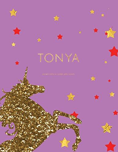 Tonya - Purple Gold Unicorn Journal To Write In