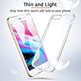 HGHYTF Coque iPhone 7,Coque iPhone 8 [BTHBITIFH00158] Transparent Housse Bumper Doux-Souple Clair TPU Silicone [Shock-Absorption] Anti-Rayures Anti-dérapante Cover pour iPhone 7/8 4.7
