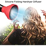 WALFRONT Hair Color Care Silicone Folding Hairdryer Diffuser For Most Hair Dryer Blowers Makeup Styling,Hair Dryer...