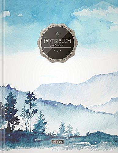 """tizbuch A4 """"C055 Oilpainting"""" (140+ Seiten, Vintage Softcover, Punktkariertes Papier - Bullet Journal, Dickes Notizheft, ... Gepunktete Seiten, Dot Grid Notebook) (Notebooks Journals)"""