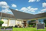 Kookaburra Wasserfest Sonnensegel 4,0m x 3,0m Rechteck Anthrazit