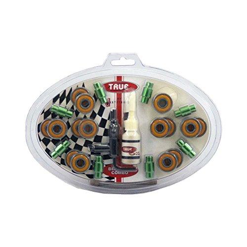 True Cuscinetti a sfera ABEC7, 8 distanziali, lubrificante, chiave - 16 pack - Cuscinetto Lubrificante
