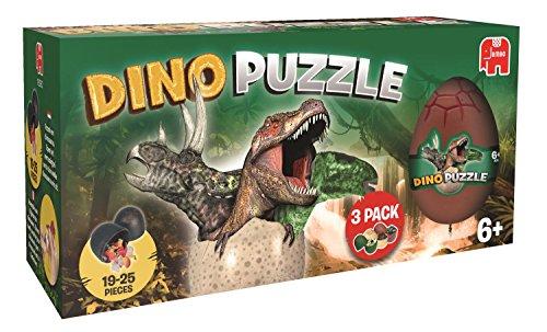 Jumbo 18292 - Puzzle dinosaurios, 3 huevos en una caja