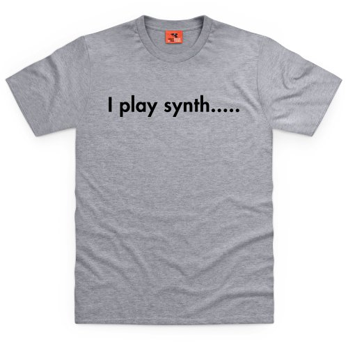 I Play Synth T-Shirt, Herren Grau Meliert