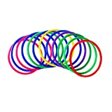 #2: TOYMYTOY Plastic Toss Rings, Outdoor Speed and Agility Practice Games, 12 Pcs