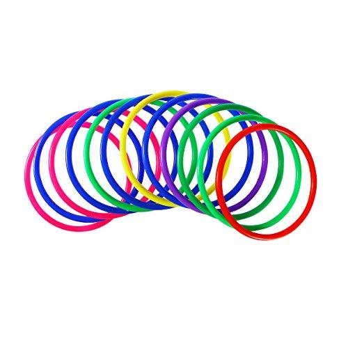 TOYMYTOY Los colores clasificados 12PCS tiran los anillos para los juegos al...