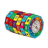 Sunsoar Plastic Cylindrical Digital Puzzle Magic Cube Toys Kids Educational Toy Birthday Chriamas