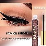 Liquid Eyeliner, gaddrt Metallic glänzend Smoky Eyes Lidschatten Waterproof Glitter (L)