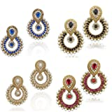 Dancing Girl 4 Colour Combo Pearl Earrin...