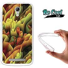 Becool® Fun - Funda Gel Flexible para Doogee Valencia 2 Y100 - Y100 Pro, Carcasa TPU fabricada con la mejor Silicona, protege y se adapta a la perfección a tu Smartphone y con nuestro exclusivo diseño. Ondulaciones de colores