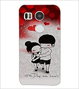PrintDhaba Love Couple D-4620 Back Case Cover for LG NEXUS 5X (Multi-Coloured)