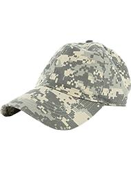 Les casquettes de baseball Hat coton Style Polo réglable visière solide brut lavé  HNAA