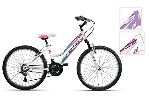 BICICLETA CTB MONTANA VEKTOR ESCAPE HI-TEN 24 LADY 3 X 6 LED COLOR  REGALO BLANCO