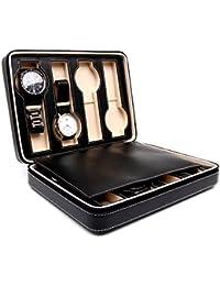 Time Tutelary KA-HC Watch Travel Cases (4, Leatherette Black)