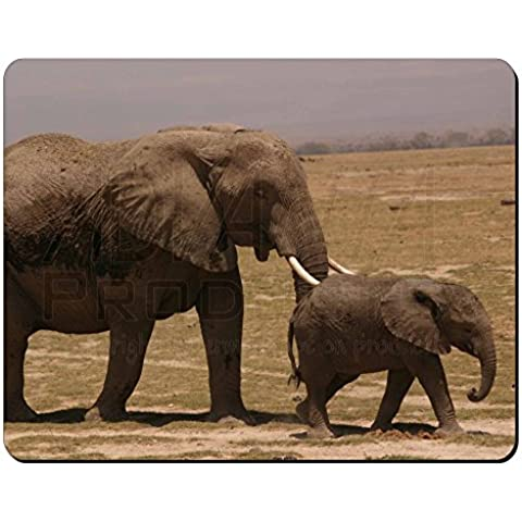 Elefante y Tuskers bebé Estera del ratón del ordenador regalo de Navidad de la a