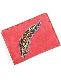 Travel Passport Holder Feather Cover Slim Id Card Case For Men & Women Travel Wallet Securely Holds Business Cards...
