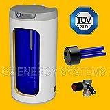100 Liter elektrischer Warmwasserspeicher, Standspeicher mit integrierter Keramikheizpatrone 2,2 kW Leistung