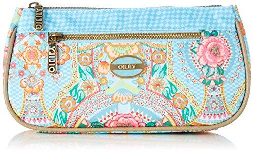 Oilily FP Basic Cosmetic Bag OCB5124-534 Damen Kosmetiktäschchen 23x12x5 cm (B x H x T), Blau (Lagoon 534) (Handtasche Handbag Paisley)