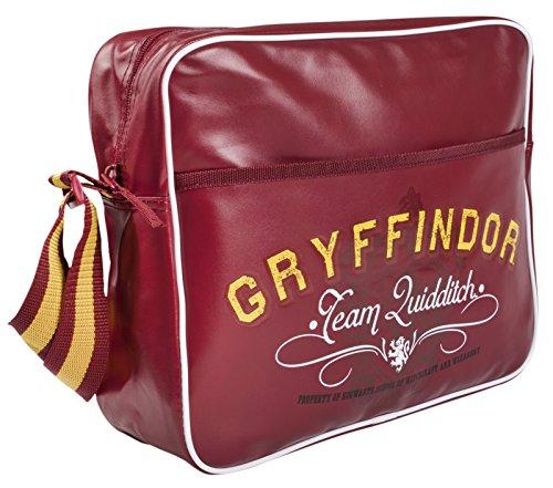 Harry Potter - Bolso Bandolera, diseño de Cruz, Gryffindor (Rojo) - MNCK10214